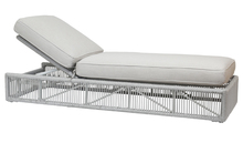 Miami Adjustable Chaise with cushions in Echo Ash