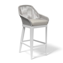 Miami Barstool with cushions in Echo Ash