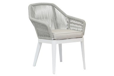 Miami Dining Chair with cushions in Echo Ash