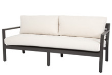 Mesa sofa with cushions in Cast Pumice