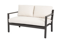 Mesa Loveseat with Cushions in Cast Pumice