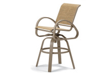 Telescope Casual Aruba II Sling Bar Height Swivel Cafe Chair