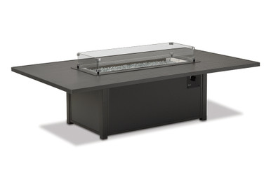 """16""""x46"""" Glass Surround for 48""""x84"""" Rectangle Fire Tables"""