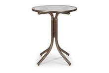 "Balcony Height Table with Glass 30"" Round Table Top w/o Umbrella Hole"