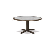 "Chat Height Pedestal Table Legs with Glass 30"" Round Table Top"