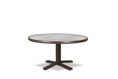"""Chat Height Pedestal Table Legs with Glass 36"""" Round Table Top"""