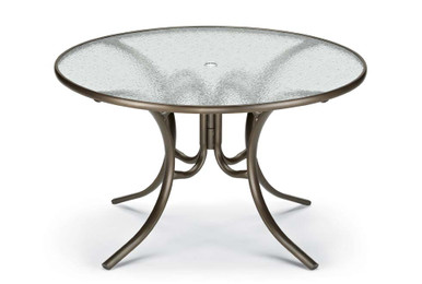 "Dining Height 48"" Round Glass Table"