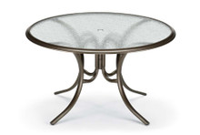 "Dining Height 56"" Round Glass Table"