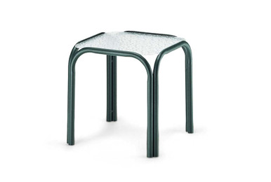 """17"""" Square Obscure Acrylic Top End Table"""