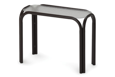 """11""""x25"""" Rectangle Obscure Acrylic Top Chaise Table"""