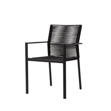 Source Furniture Avalon Dining Arm Rope Chair - Black Durarope