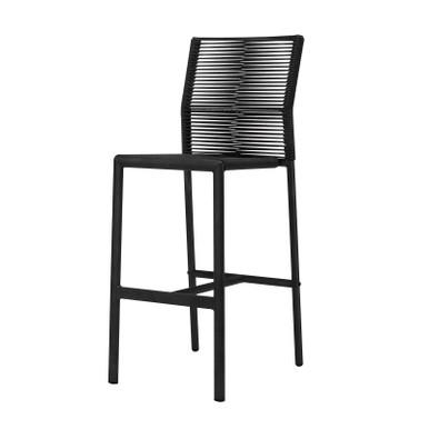 Source Furniture Avalon Bar Side Rope Chair - Black Durarope