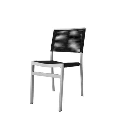 Source Furniture Fiji Rope Dining Side Chair - Black Durarope