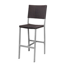 Source Furniture Fiji Wicker Armless Bar Chair - Espresso