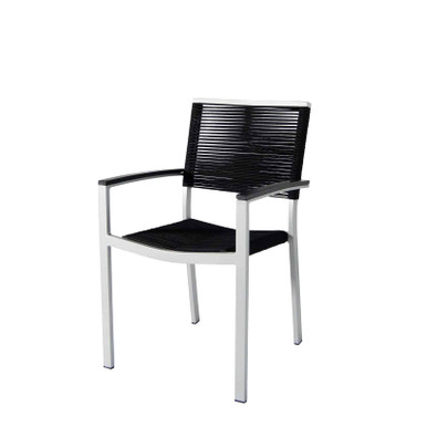 Source Furniture Fiji Rope Dining Arm Chair - Black Durarope