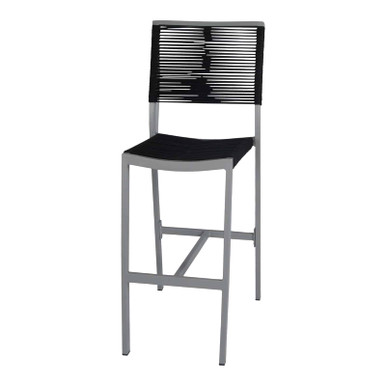 Source Furniture Fiji Rope Bar Armless Chair - Black Durarope