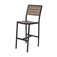 Source Furniture Napa Bar Side Chair - Black Frame & Gray Durawood