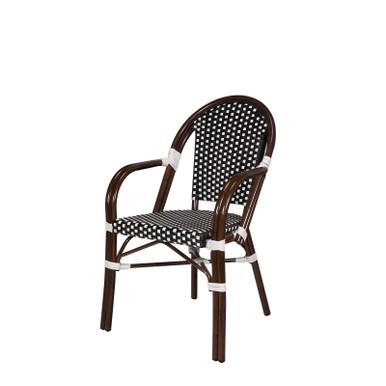 Source Furniture Paris Arm Chair - Black & White