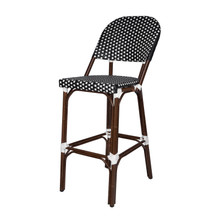 Source Furniture Paris Bar Side Chair - Black & White