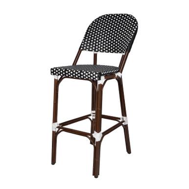 Source Furniture Paris Bar Side Chair - Black & White