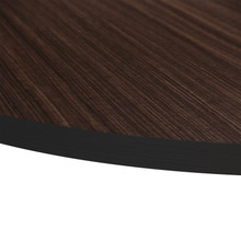 Source Furniture Prime Round Table Top - Dark Wood Look