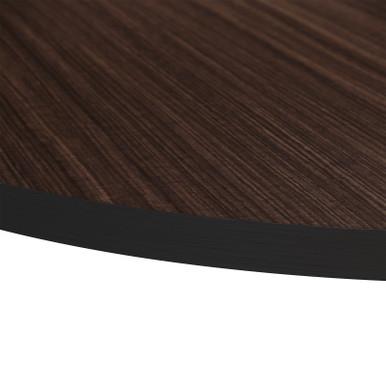 Source Furniture Prime Round Table Top - Dark Wood Look
