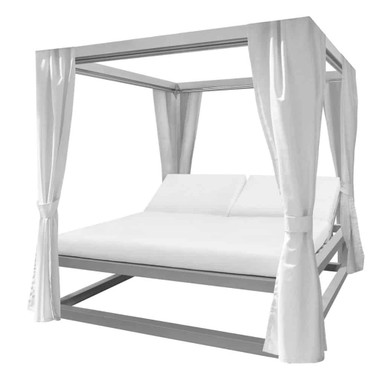 Breeze Daybed with Corner Decorative Curtain