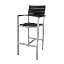 Source Furniture Vienna Bar Arm Chair - Black