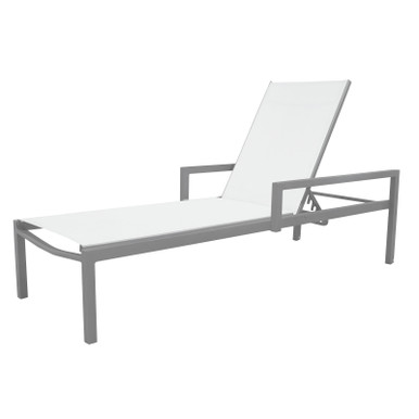 Source Furniture Fusion Chaise With Arms - Quarter View