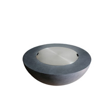 Elements Round Concrete Fire Pit - Metal Top Cover