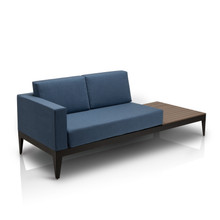 Source Furniture SoBe Loveseat Left-Arm w/ Built-in Side Table
