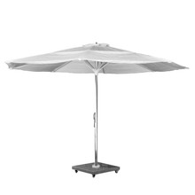 Source Furniture The Grand 13' Center Pole Umbrella - Mirror Anodized Frame