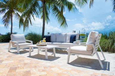 Panama Jack Mykonos 4 PC Seating Set with Cushions