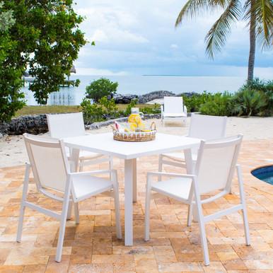 Panama Jack Mykonos 5 PC Square Dining Set