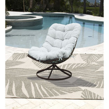 Panama Jack Outdoor Swivel Chair with Cushion