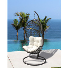 Panama Jack Hanging Chair with Metal Stand and Cushion