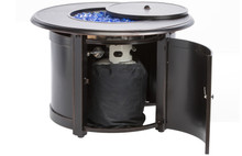 "Alfresco Home Manchester 36"" Round Match Lit Gas Fire Pit w/ Firebeads"
