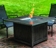 "Alfresco Home Cheyenne 40"" Square Gas Fire Pit w/ Firebeads"