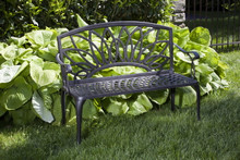 Alfresco Home Daffodil Cast Aluminum Garden Bench