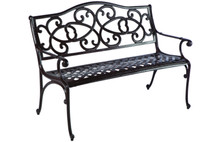 Alfresco Home Wisteria Cast Aluminum Garden Bench