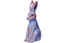 Alfresco Home Tall Ceramic Orchid Rabbit