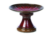 Alfresco Home Daisy Birdbath - Red