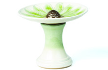 Alfresco Home Daisy Birdbath - Green