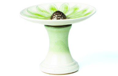 Alfresco Home Daisy Birdbath - Green