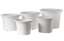 "Alfresco Home 17.5"" Geo Planter - Shiny White"