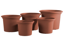 "Alfresco Home 19.5"" Geo Planter - Terra Cotta"