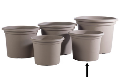 "Alfresco Home 19.5"" Geo Planter - Tortora"