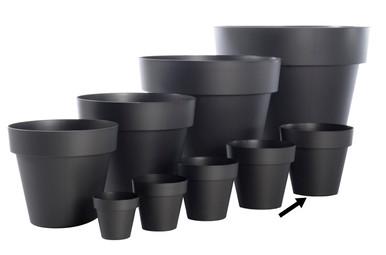 """Alfresco Home 15.75"""" Mitu Pac Outdoor Planter w/ Drainhole - Anthracite Grey"""