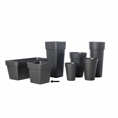 Alfresco Home Mitu Pac Square Pot - Anthracite Grey