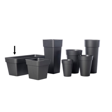 "Alfresco Home 39.5"" Mitu Pac Plant Box - Anthracite Grey"
